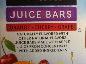 """Close up of """"With added ingredients"""""""