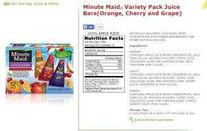 Minute Maid label