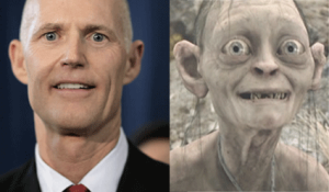 Governor Scott side by side with Gollum