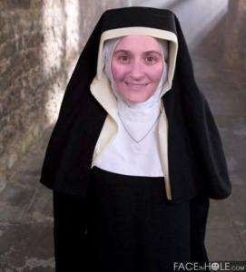 Me, dressed as a nun
