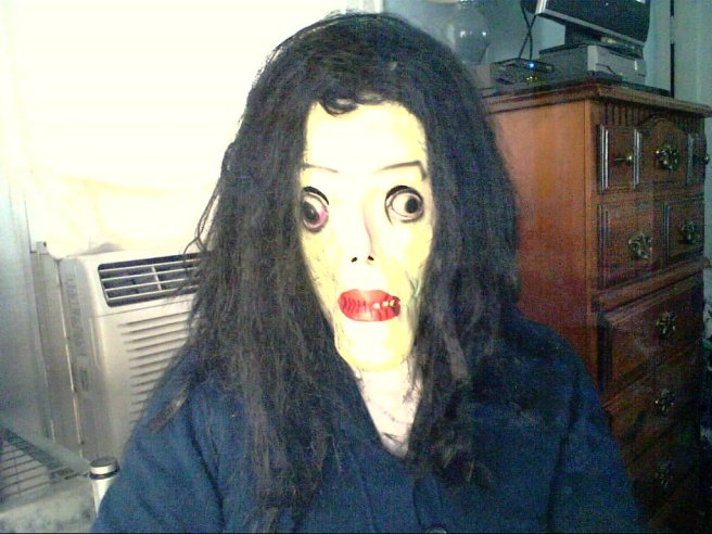 Me in a Michael Jackson Halloween mask