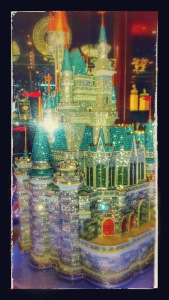 Crystal sculpture of Cinderella's castle