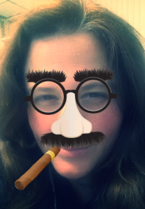 Me with a Groucho Marx mask and cigar