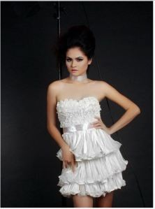 White Condom dress