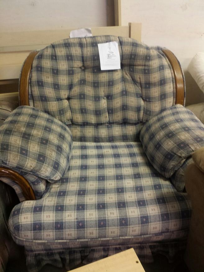 Ugly blue plaid chair