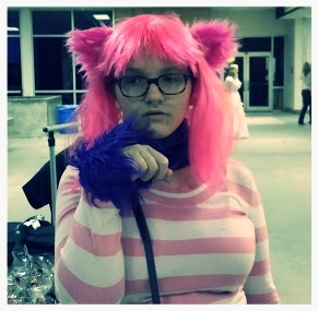 Girl in Cheshire Cat Costume