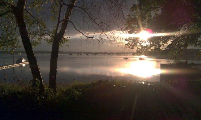 Sunset reflecting on Long Island Sound