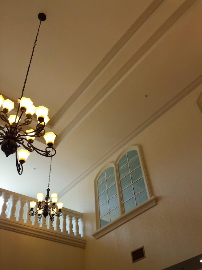 Ceiling of the Hotel Lobby