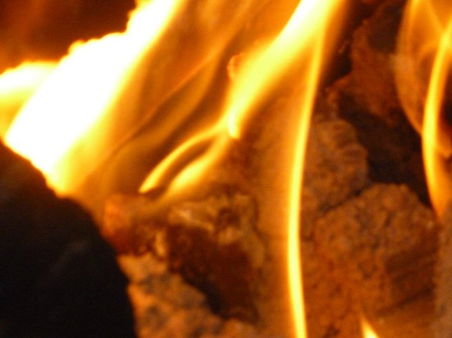 Close up of a flame