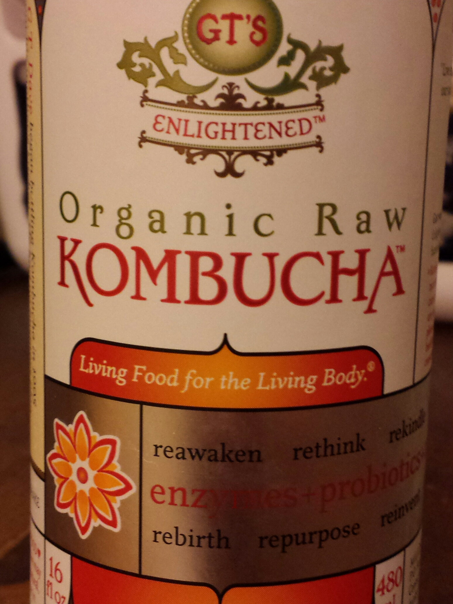Ginger Kombucha bottle
