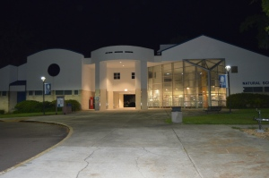 Natural Sciences Building at night