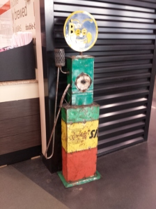 small, old fashioned gas pump model