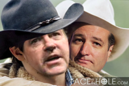 Brokeback Mountain remake starring Mike Huckabee and Ted Cruz