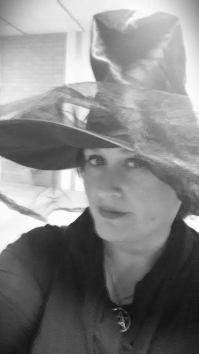 Black and white witch photo
