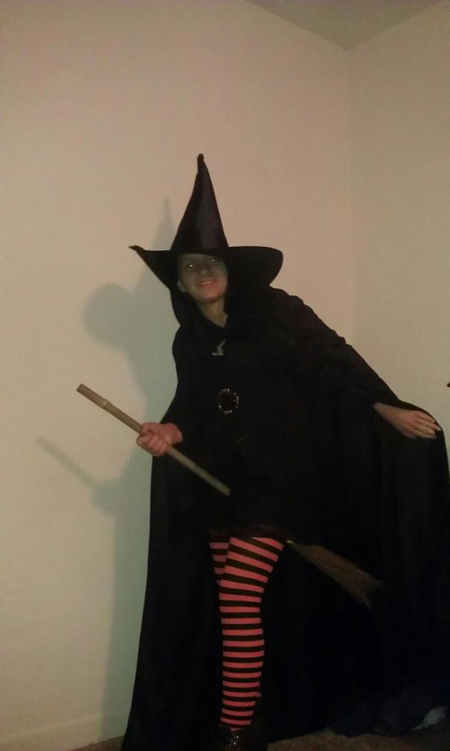 Witch on Broom stick